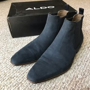 "ALDO ""Avent"" Chelsea Boot in Blue Suede - US 13"
